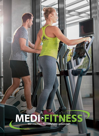 Mann und Frau im Fitness-Studio